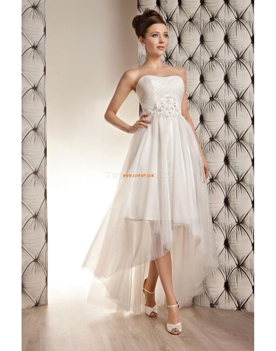 Organza bez rękawów backless suknie ślubne dla ciężarnych moda