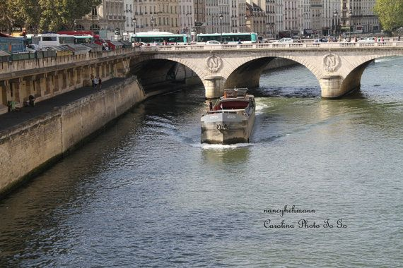 Art photography of  Paris France along the  Seine by nancyhehmann, $30.00