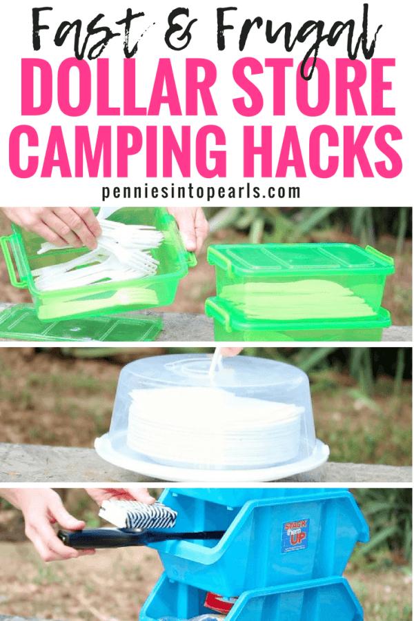 Quick and Easy Dollar Store Camping Hacks | Camping hacks ...