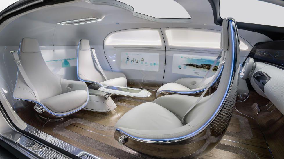 SALONG: Interiøret i FT 015 er oppholdsrom mer enn det er bil-kupé