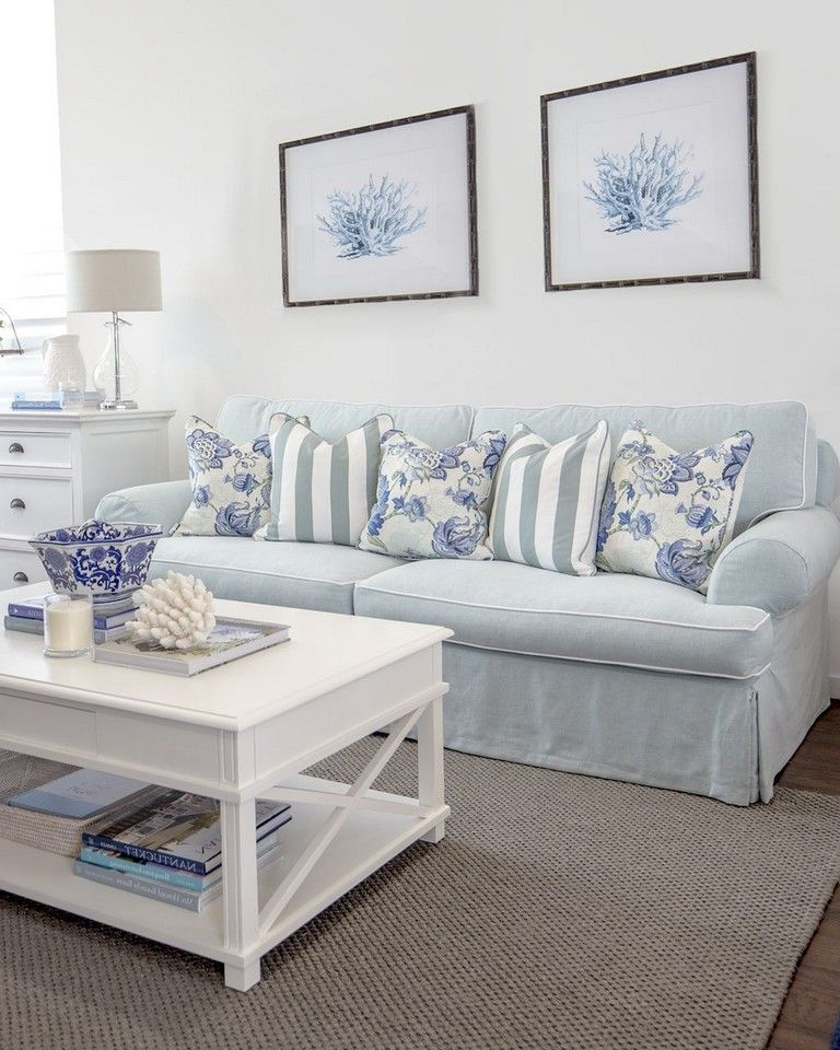 65+ Awesome Clean Coastal Living Room Decorating Ideas #strandhuis