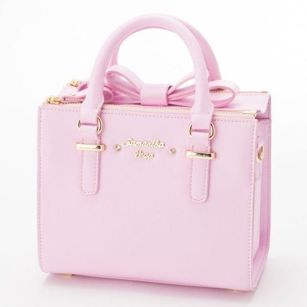 Samantha Thavasa Vega❤2WAY Box Bow Bag S Handbag Cute Kawaii❤JAPAN   SamanthaVega  ShoulderBag a1ca2e604f