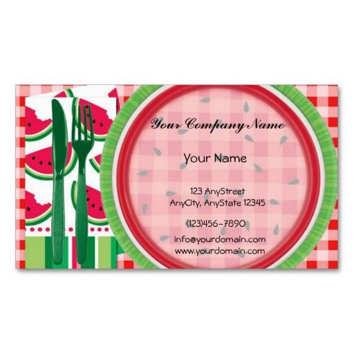 Red and white watermelon table setting business card business cards karri best price red and white watermelon table setting business cards red and reheart Gallery