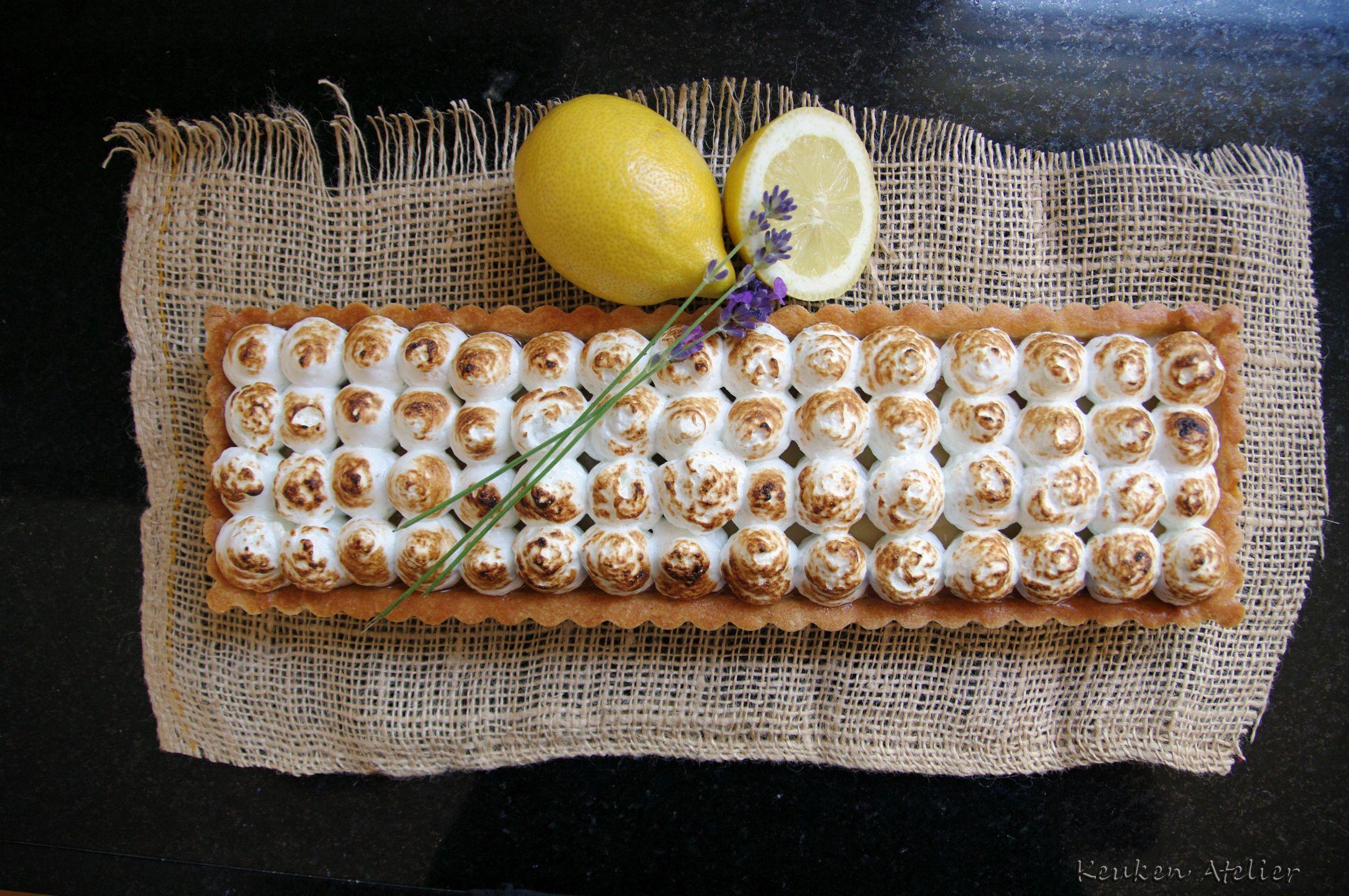 Citroen meringue taart met lavendel - Keukenatelier