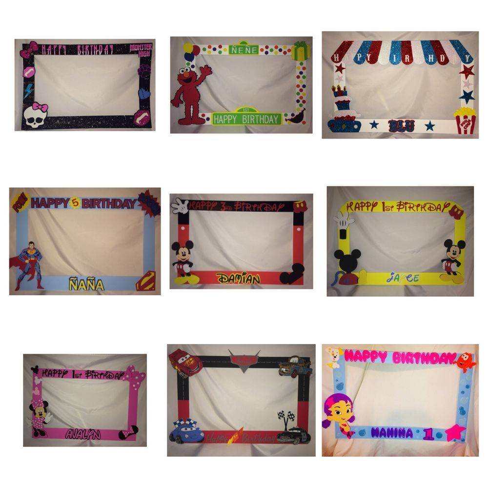 photo frame party prop Mickey, minnie mouseto take pictures at party ...