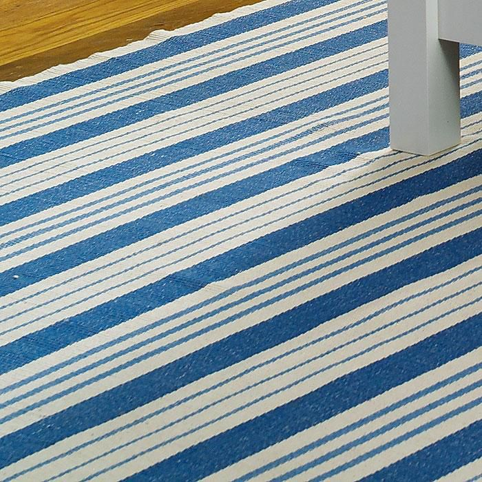Inspired By Swedish Gustavian Period Country Houses, Our Blue And White  Striped Rug Is Hand