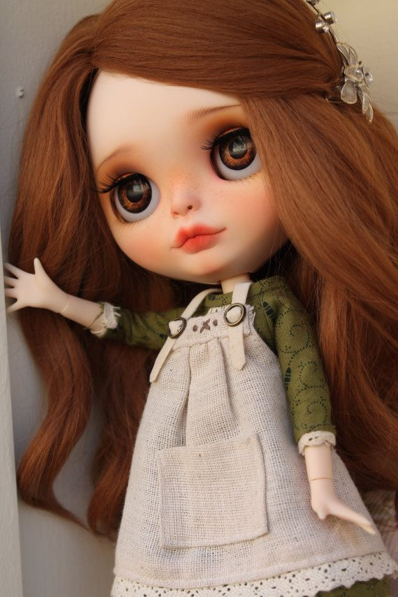 RESERVED Alice Custom Blythe Doll OOAK Art by NDsDazzlingDollys