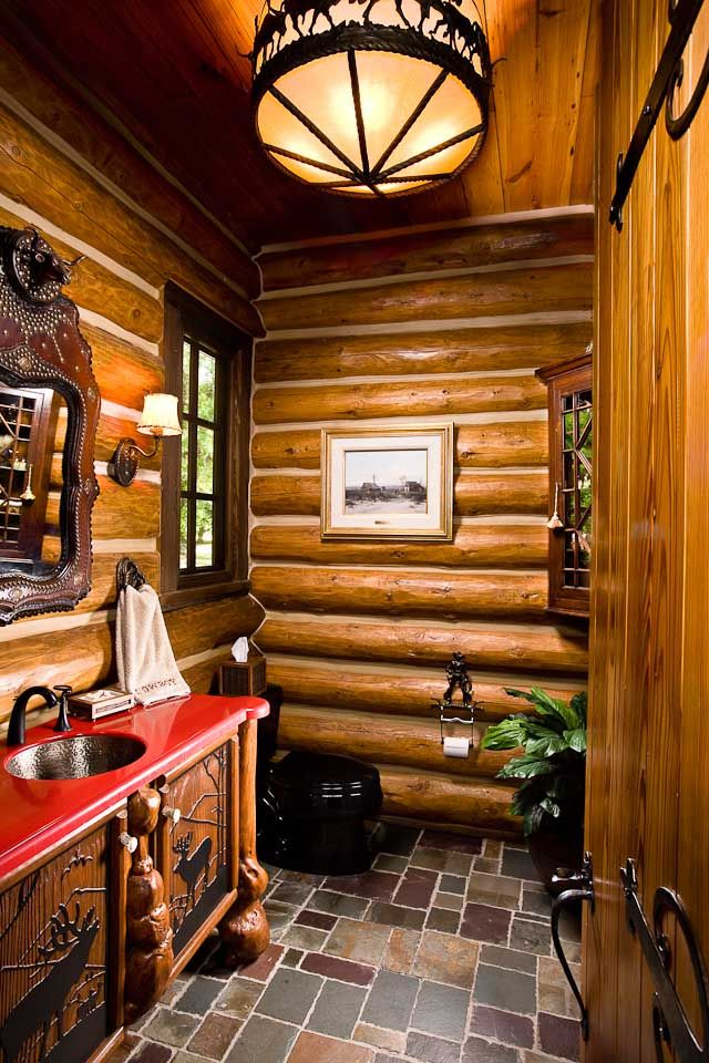 Bathroom Designs By Rocky Mountain Log Homes Style