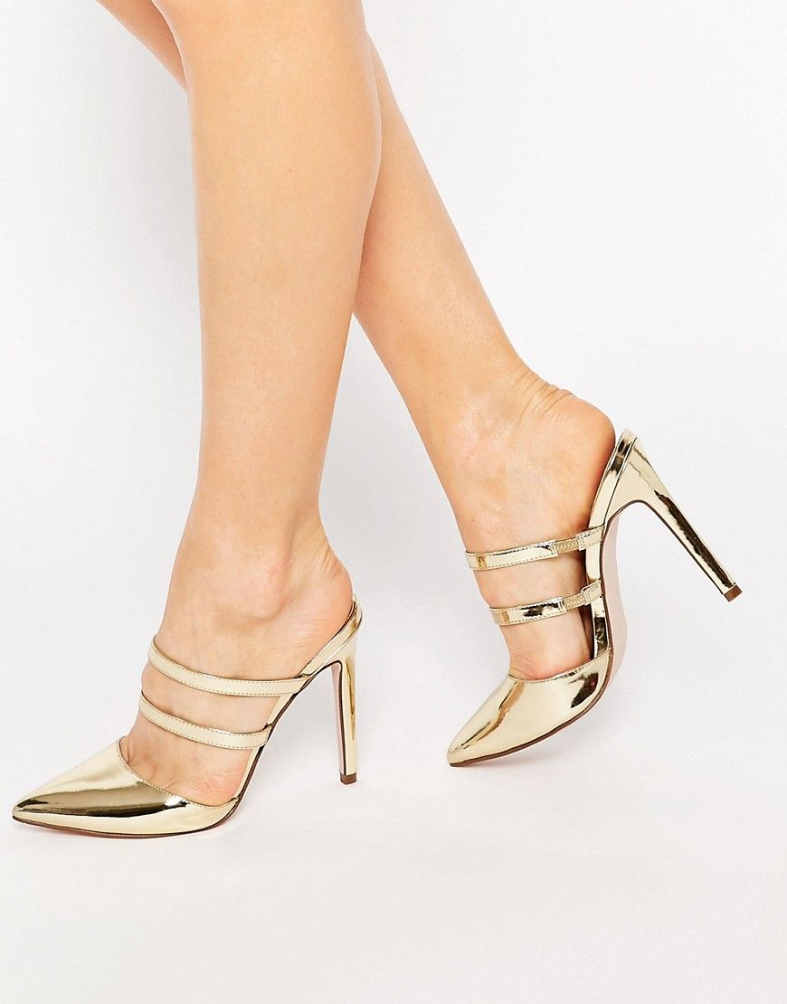 8990c40fd PLATOON Pointed Mules | I am the life of the evening. | Asos shoes ...