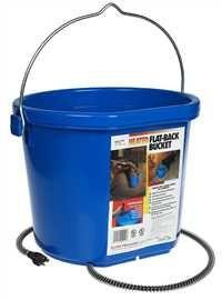 Heated 5 Gallon Flat Back Bucket Water Bucket Bucket Heat