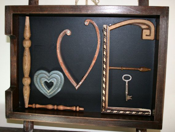 Love in a Box Wood Salvage Wedding Gift by VintageRebornLLC