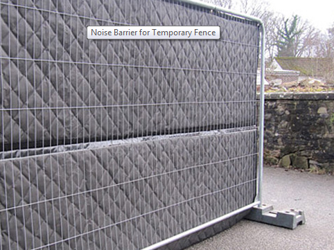 Noise Barrier On Temporary Fence For Construction Sitethese Are Detachable Acoustic Barrier Your Competitors Noise Barrier Construction Fence Acoustic Barrier