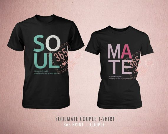 Couples Shirts Soulmate T Shirts Cute Matching Be My Soulmate