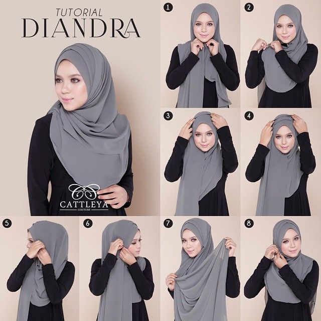 Beautiful Hijab Tutorial With Folds Dengan Gambar Tutorial
