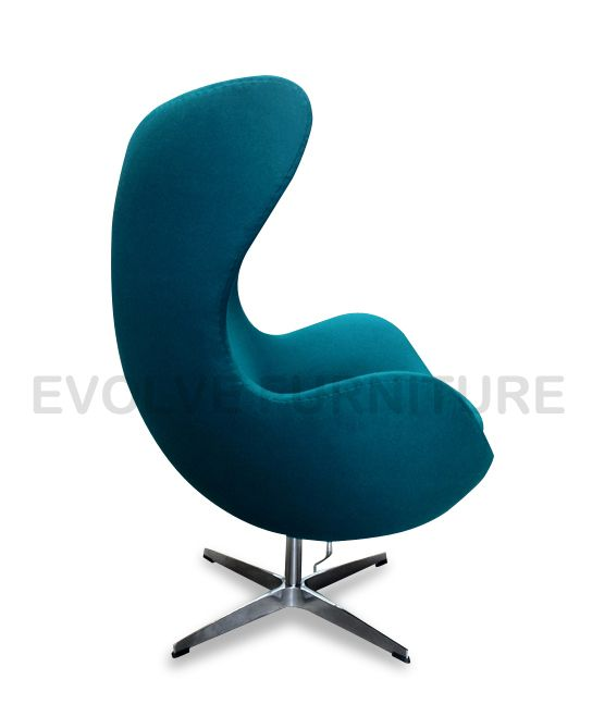 new egg lounge chair replica arne jacobsen premium turquoise wool