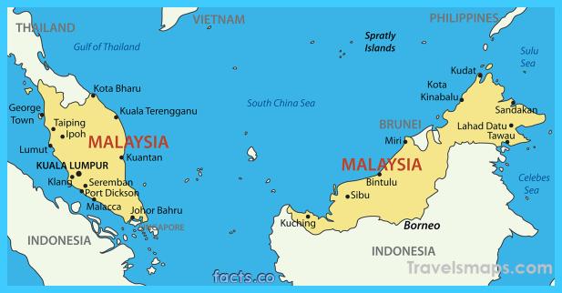 cool Map of Malaysia Malaysia tourism, Malaysia