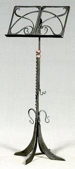 Music stand art nouveau style wrought iron scroll for Decoracion art nouveau
