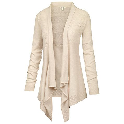 Buy Fat Face Callie Waterfall Cotton Cardigan Online at johnlewis ...