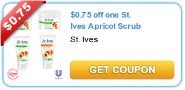 photograph relating to St.ives Printable Coupons identified as $0.75 off one particular St. Ives Apricot Scrub Higher Great importance Coupon codes