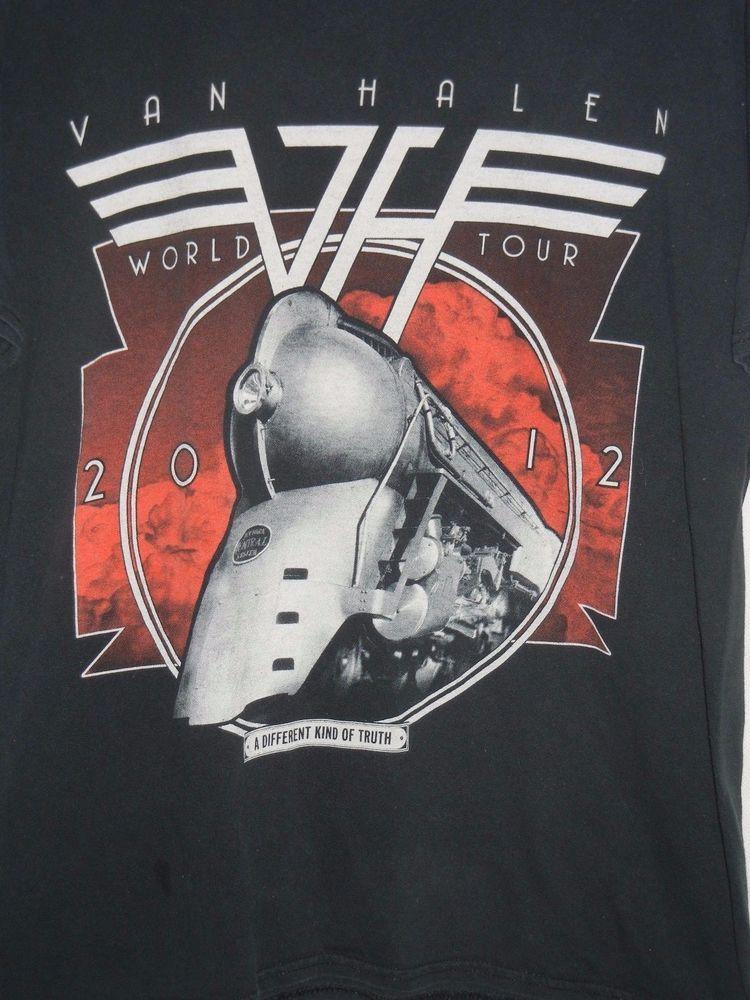 Van Halen 2012 World Tour Rock Concert Black Size XL T Shirt double sided #Gildan #GraphicTee