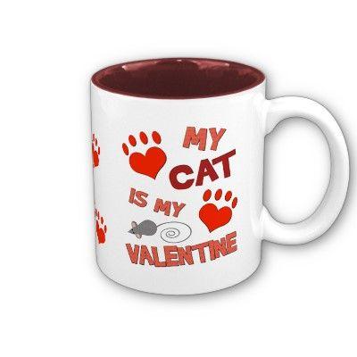 Funny Cat Valentine's Day Mug