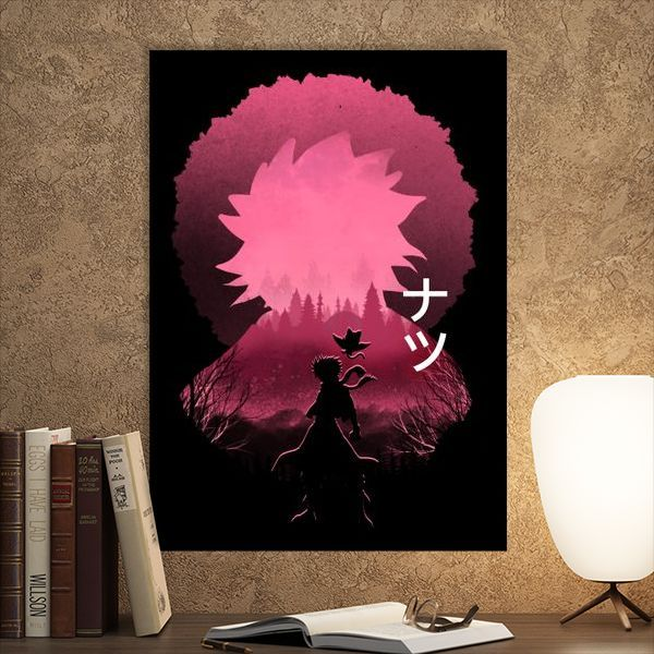 Metal Poster Natsu Fairy Tails thumbnail