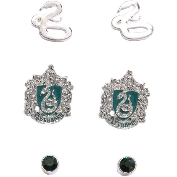 f4f39fcfd Harry Potter Slytherin Earring Set Hot Topic ($31) ❤ liked on Polyvore  featuring jewelry, earrings, snake earrings, green jewelry, snake jewelry,  earring ...