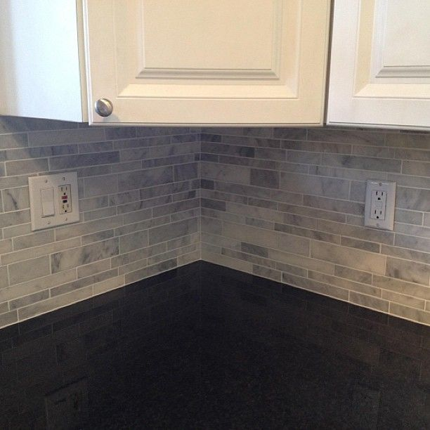 Tile And Decor Tampa South Tampa Florida Linear Brick Bianco Carrara Marble Backsplash