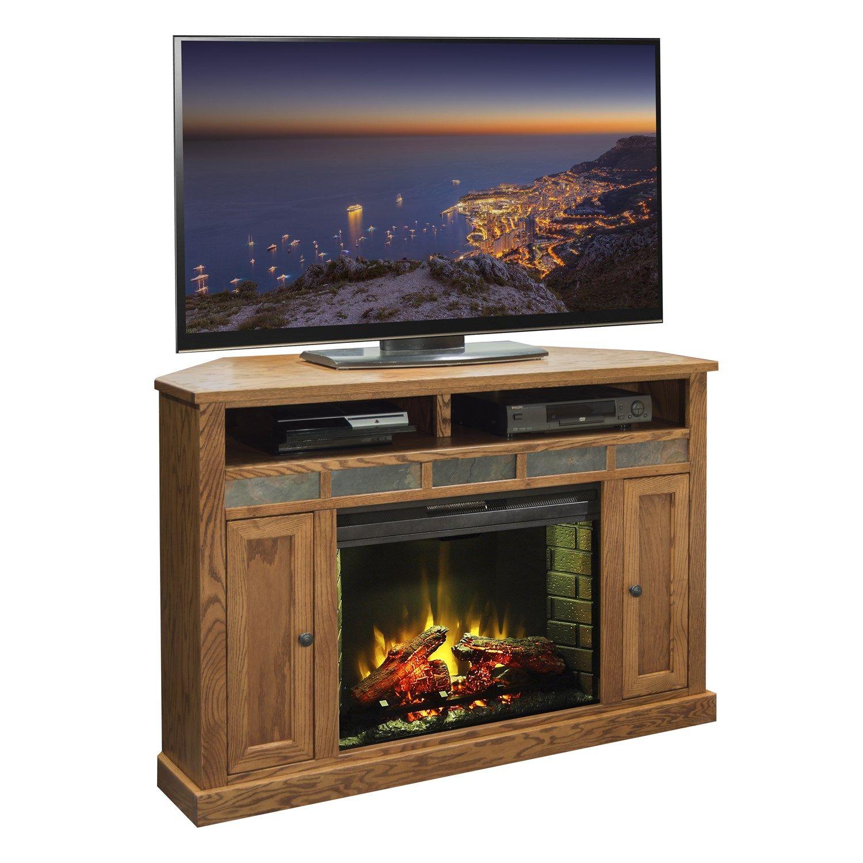 legends furniture oc5102 kit oak creek 56 corner fireplace in