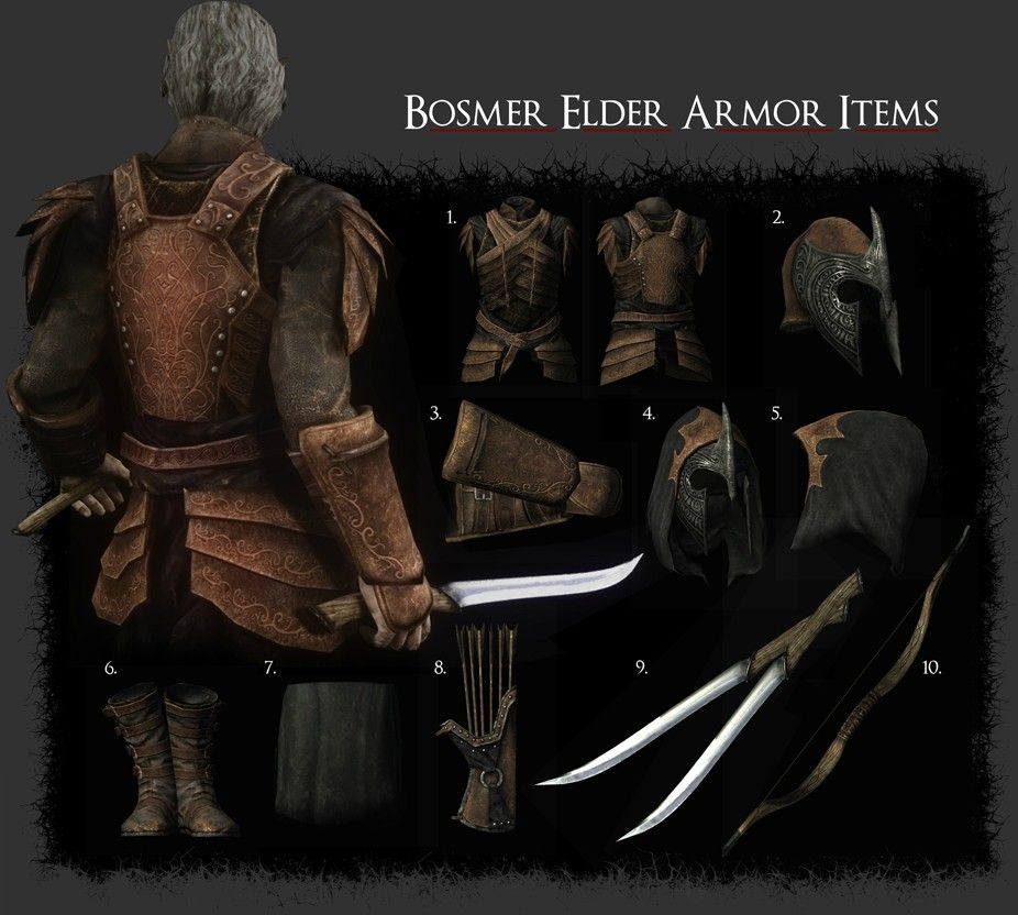 Bosmer Armor Pack At Skyrim Nexus Mods And Community Skyrim Tes Skyrim Elder Scrolls This elder scrolls online eso armor guide covers the basics of the various armor types in the game, as well as the thought process behind choosing which armor would be best suited for your character. pinterest