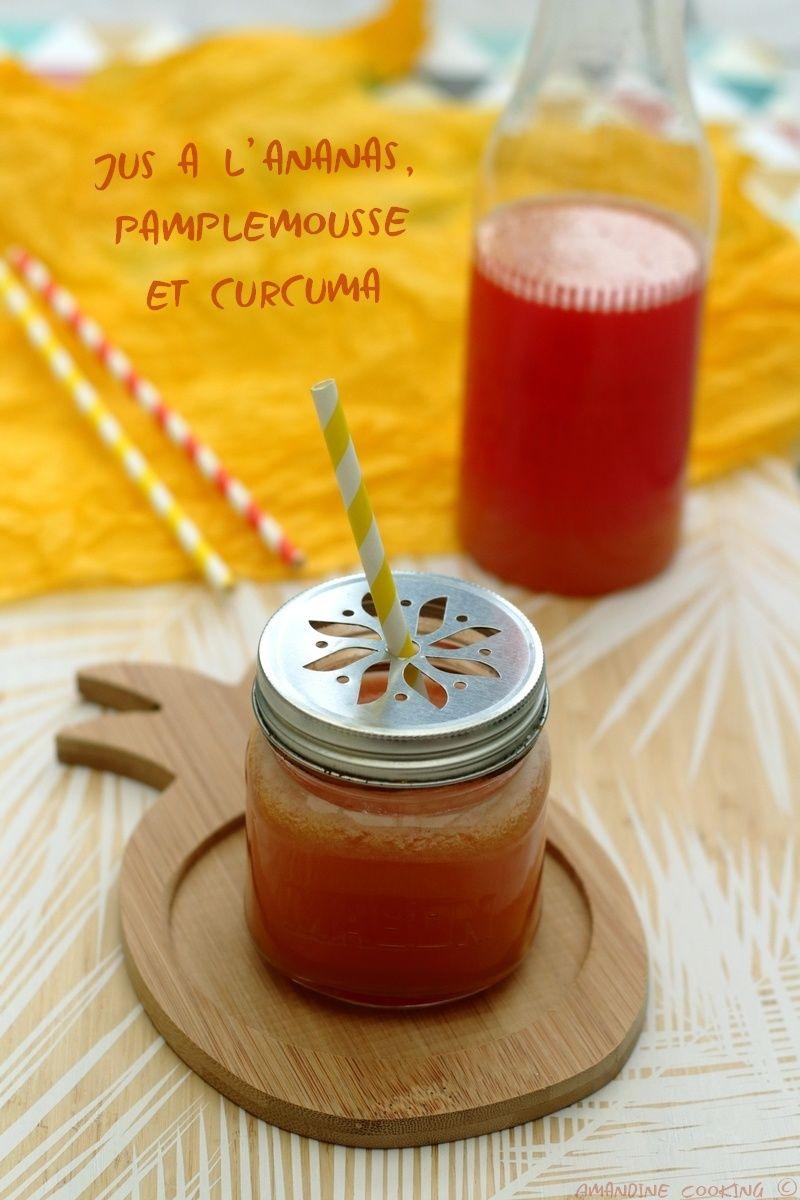 Jus l 39 ananas pamplemousse et curcuma br le graisse boissons milkshake smoothie etc - Extracteur de jus une boutique dans mon salon ...