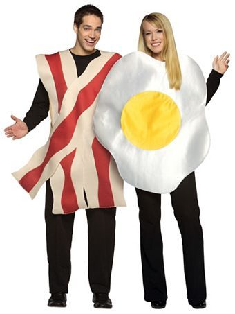 Bacon  Eggs Adult Couples Wholesale Food Halloween Costumes for - food halloween costume ideas