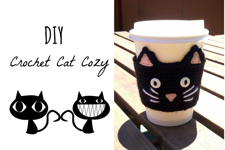 Crochet Cat Cozy DIY | Home decor | Pinterest | Tejido, Termos y Gato