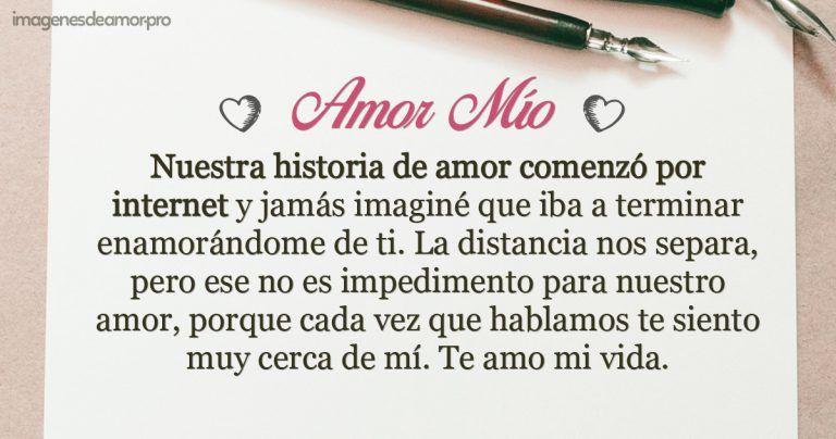 Carta Para Un Amor Por Internet Amor Te Amo Mi Vida Mirarte A Los Ojos