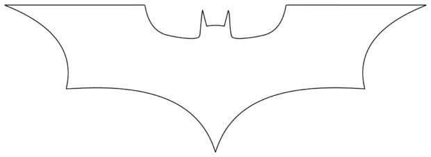 batarang from a saw blade stencil silhouettes pinterest