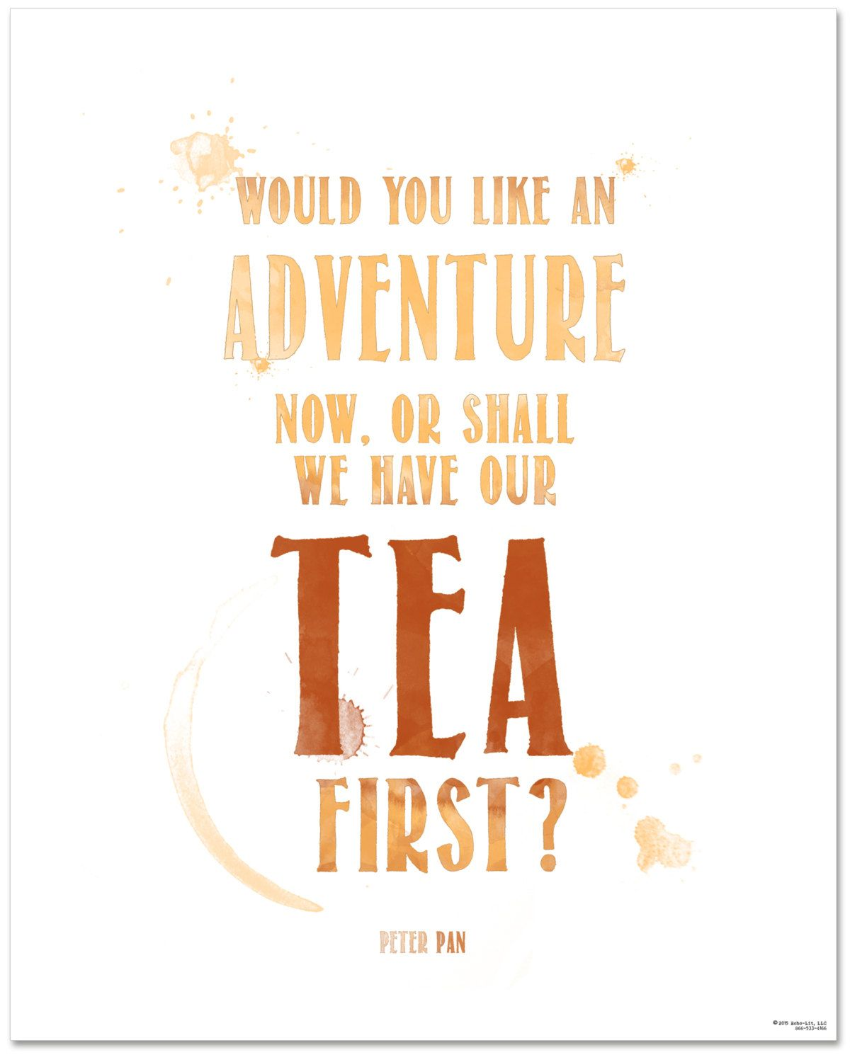 Kitchen Tea Quotes For Cards: Peter Pan Adventure Now Or Tea First