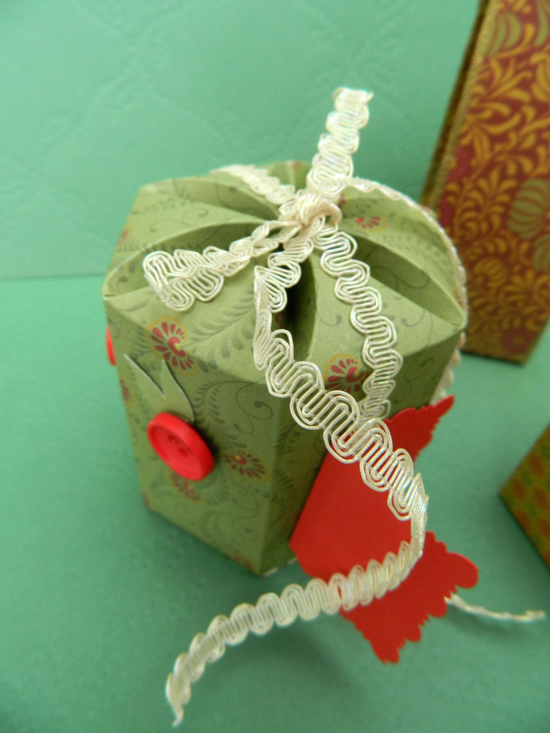 Handmade Gift Boxes, Set of three paper boxes - pinned by pin4etsy.com