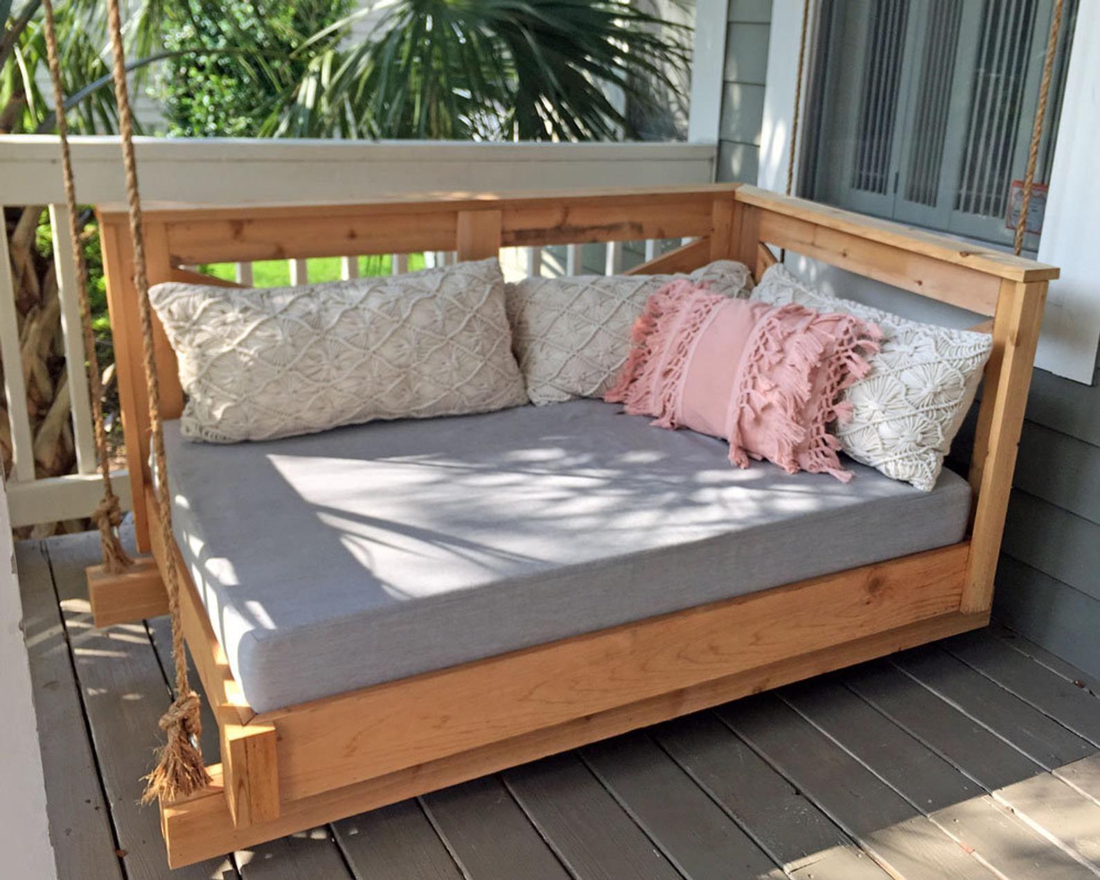 Sunbrella Daybed Custom Cushion Crib Mattress Farmhouse Etsy In 2020 Outdoor Daybed Cushion Outdoor Daybed Bed Swing