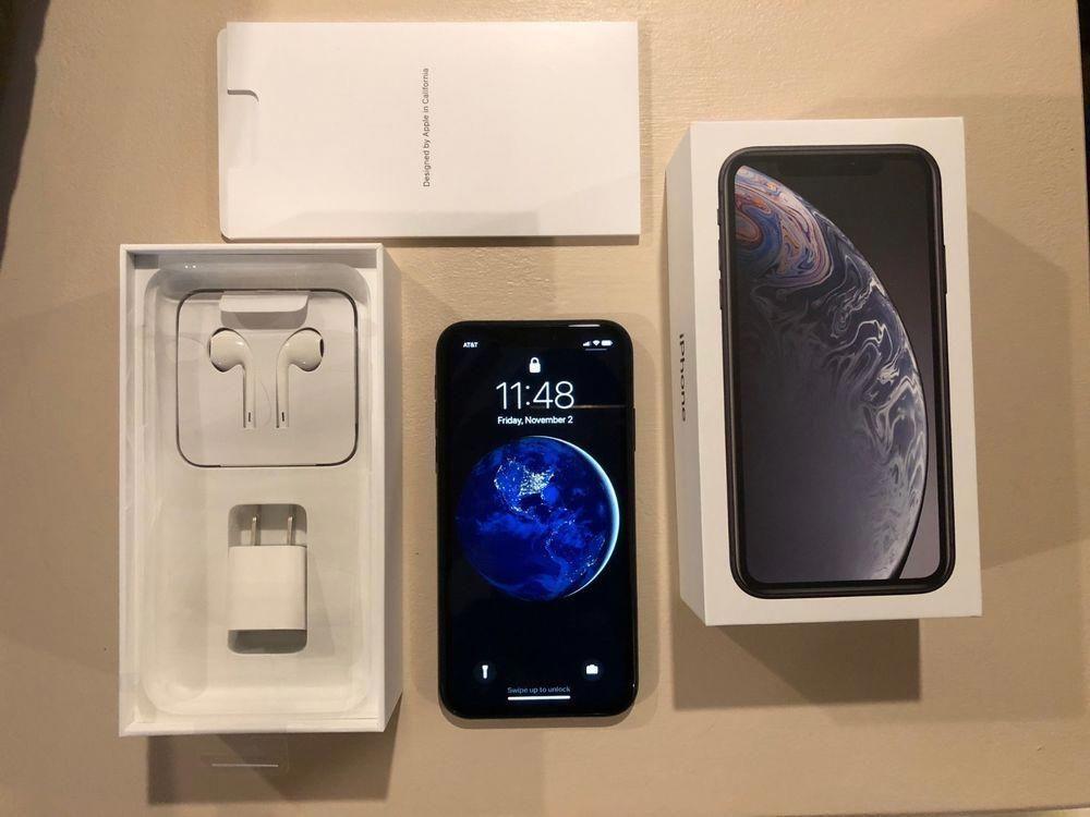 Apple iphone xr 128gb black att a1984 cdma gsm