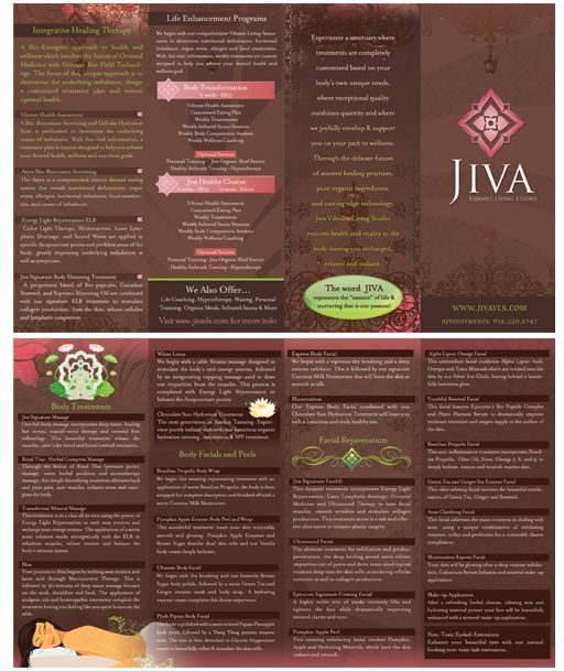 Spa Brochure Design  Beauty Massage Busines