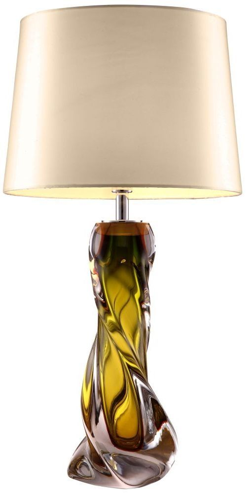 Oriana Olive Green Glass Table Lamp Base Only Table Lamps Table