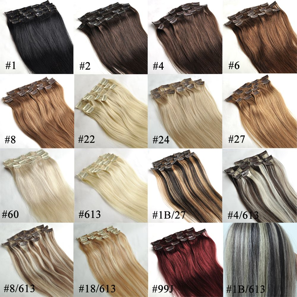 colour choose human hair extensions clip in hair extensions
