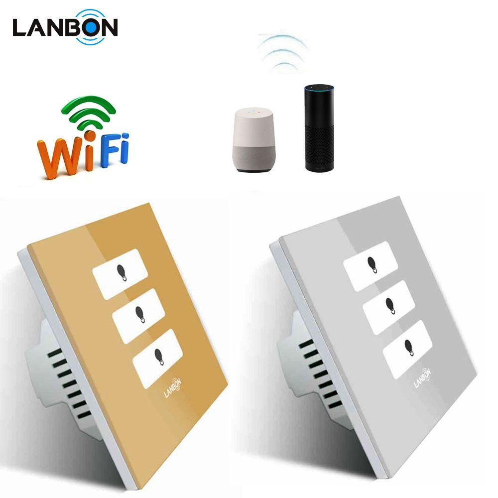 Australia Standard Wifi Module Control 3 Gang Lamp Touch Switch Smart Home Lights Switch Remote Co Home Automation Home Automation System Smart Home Automation
