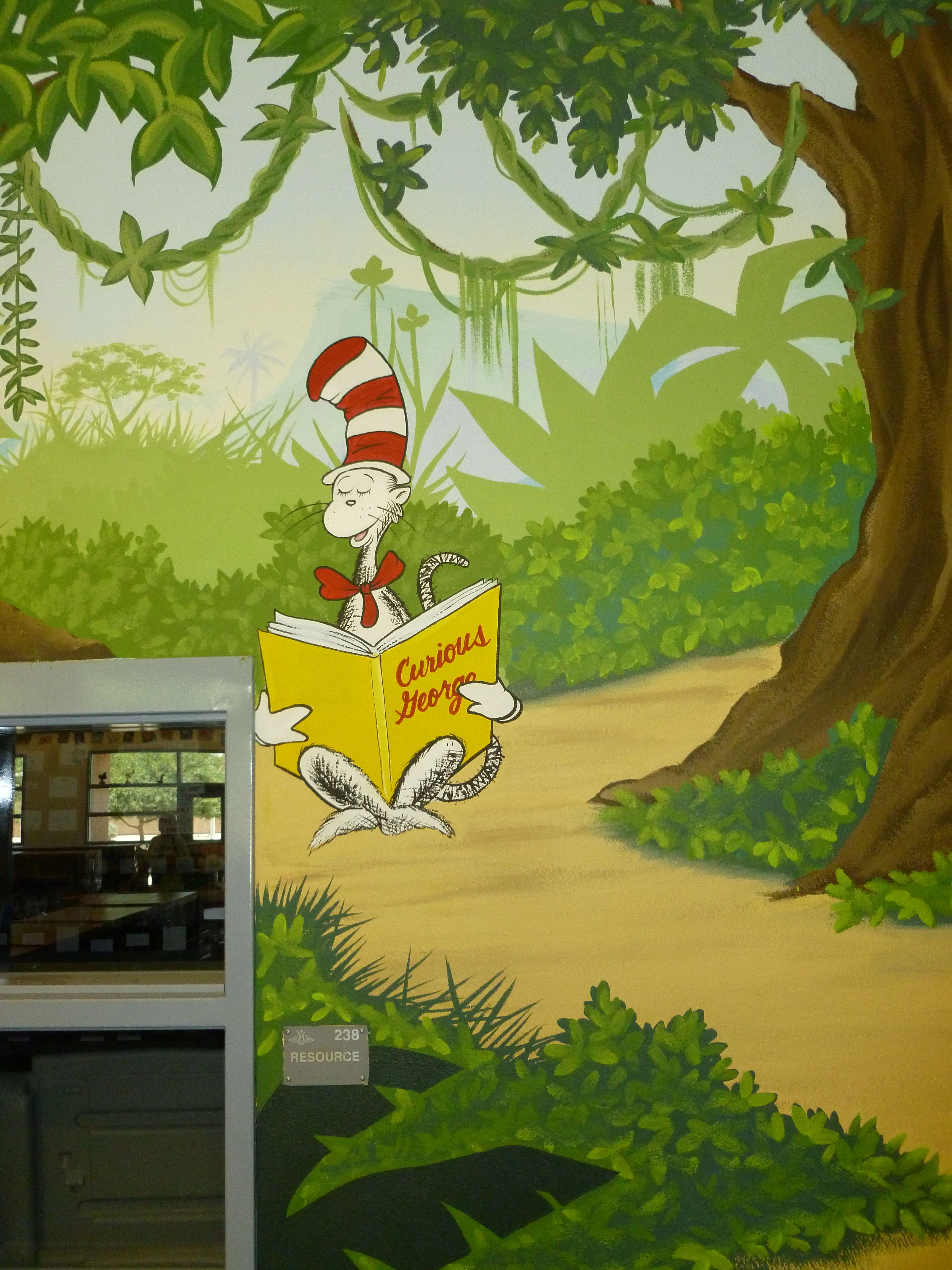 Cat in the Hat reading \