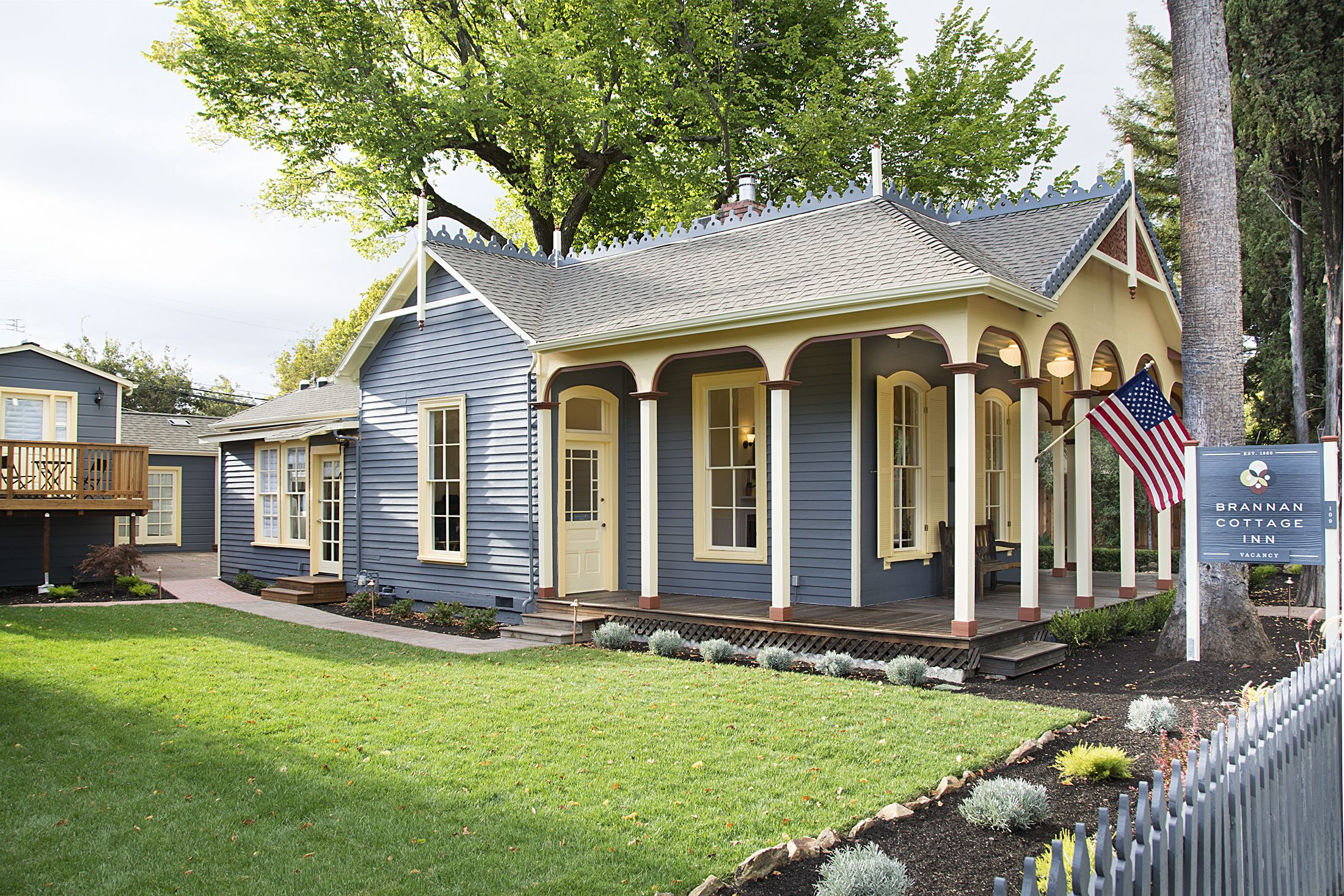 Welcome! Our 1860 Italianate Victorian inn is the last remaining resort cottage from Calistoga's first hot springs resort to remain in its original location. The past retold... the best of the historic and the new. Grand Reopening Special on now. http://brannancottageinn.com/