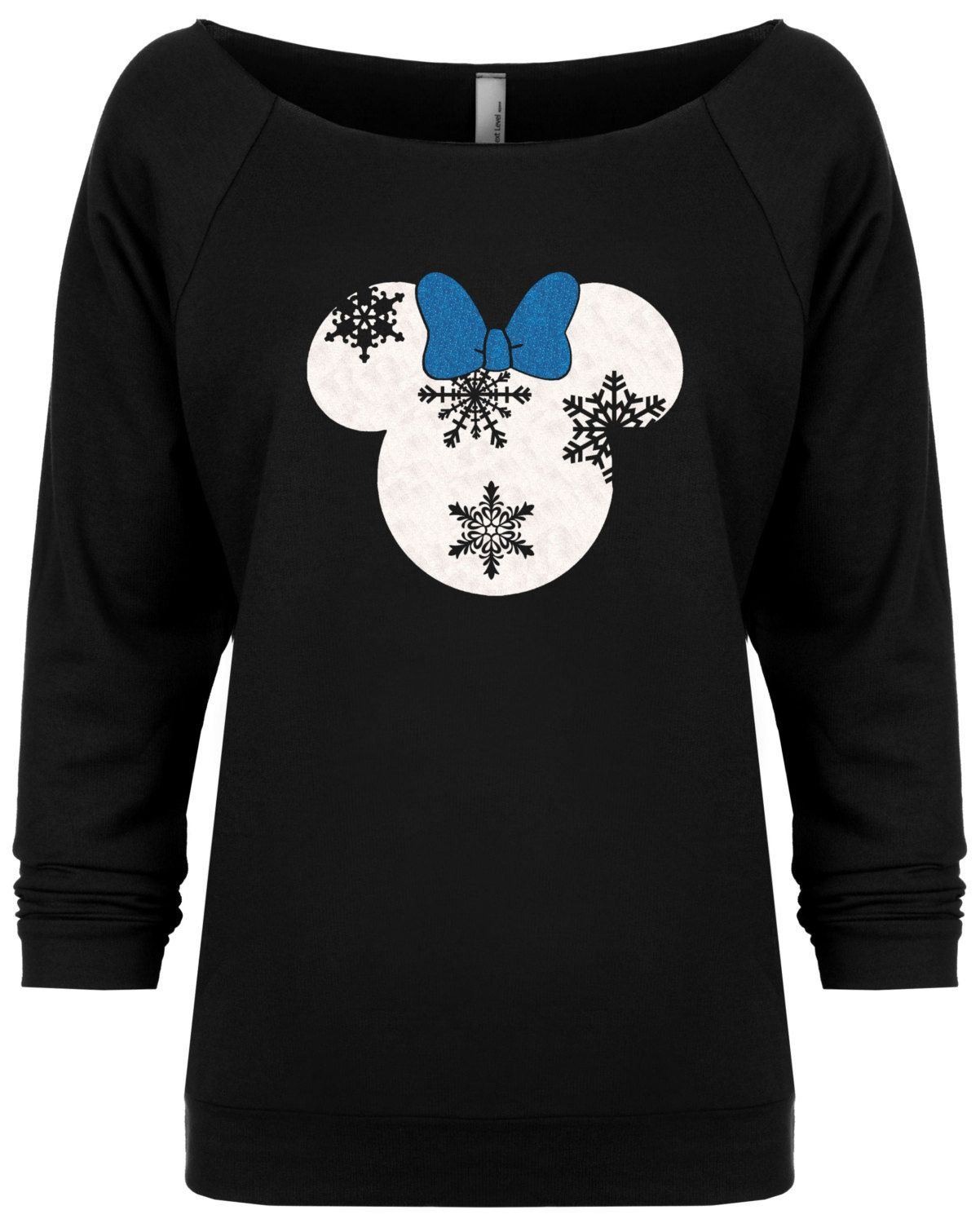 Disney Minnie inspired snowflake head Holiday Christmas