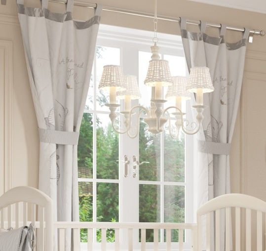PRESALE Gray Winnie the Pooh 2 Curtains Baby curtains
