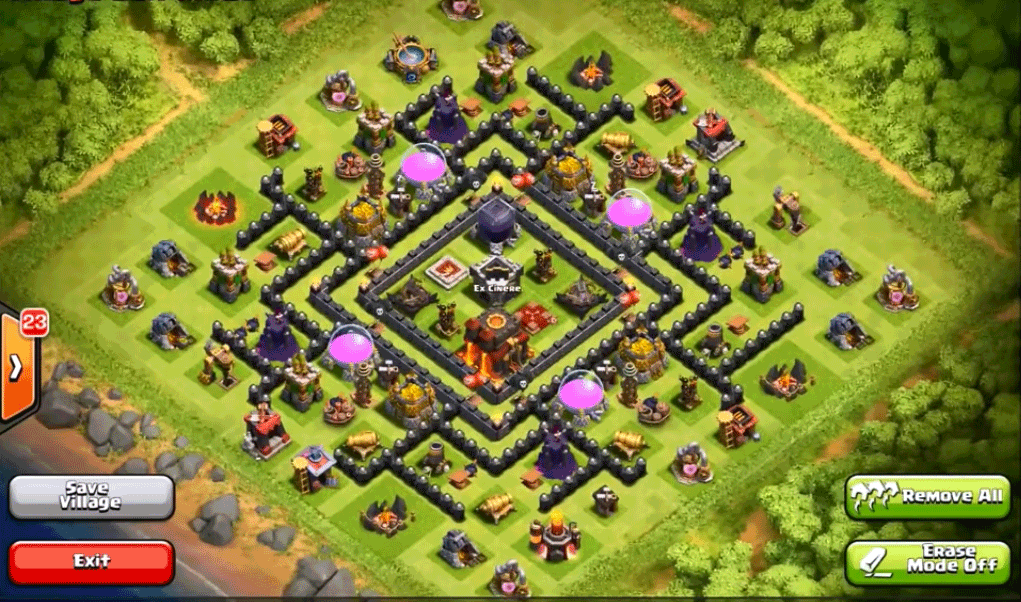 Top 10 Clash Of Clans Town Hall Level 9 Defense Base Design| | Clash of  clans, Clan, Town hall
