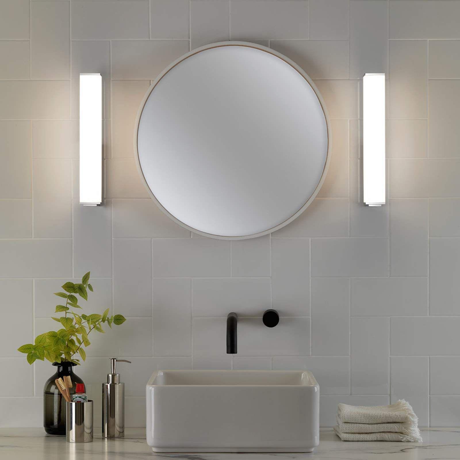Moderne Wandleuchte Karla Von Astro Silber Runde Badezimmerspiegel Lampe Badezimmer Und Badezimmer Led