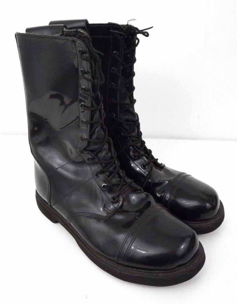 590dfa29030 Bates Lites Mens 14 Black High Gloss Tall Boots 11